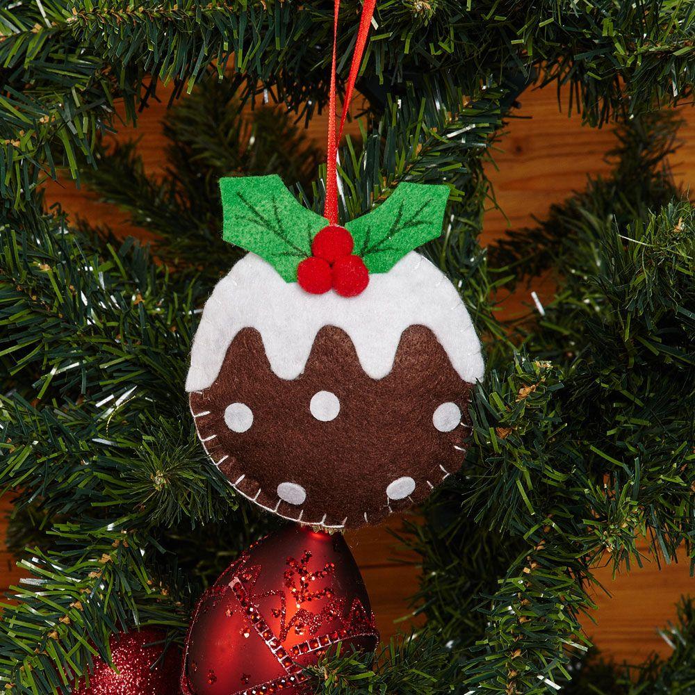 Felt Christmas Decorations Uk.The Wedding Cabinet Felt Christmas Pudding Tree Decoration