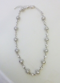 crystal round necklace