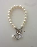 pearl&crystal teardrop bracelet