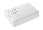 White & silver cake box