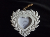 BM photoframe heart whiteshabby