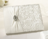 SF ivory guest book vintage lace