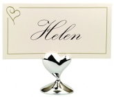 swish heart place card holder