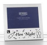 hen night silver picture frame