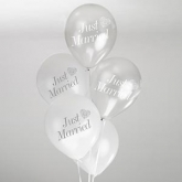 VR balloons white&silver