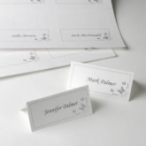 diy placecards butterfly white
