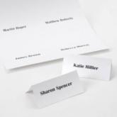 diy placecards plain white