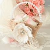 hessian flower basket