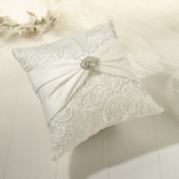 SF ivory vintage lace ring cushion