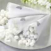 White & Silver Confetti Cone1