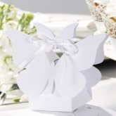butterfly favour box white
