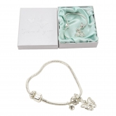 WB butterfly charm bracelet