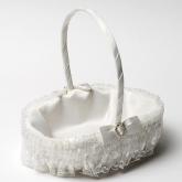 Oval Flower Girl Basket - Ivory