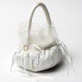 Round Flower Girl Basket - Ivory