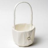 Tall Flower Girl Basket - Ivory