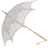White Emma Lace Parasol