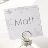 square snowflake place cards