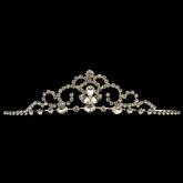 rhodium silver tiara