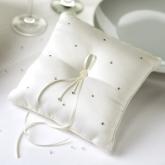 ivory diamond ring cushion
