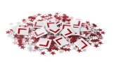 hen party table confetti lplate