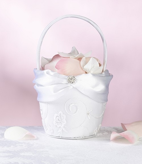 Flower Baskets For Weddings Uk : The wedding cabinet lace flower basket white