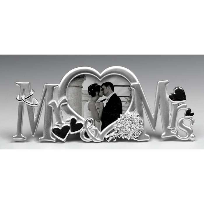 mrs and mrs frame silver - Mr And Mrs Photo Frame