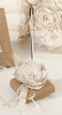 hessian wedding pen set